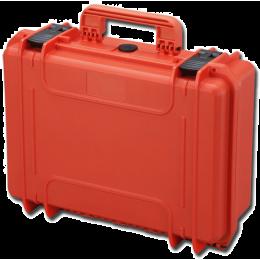 Valise rigide IP67 sans mousse - moyenne - orange