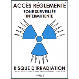 "Trèfle signalisation bleu ""zone surveillée intermittente"" adhésif"