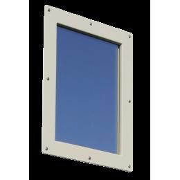Option oculus anti-x coupe-feu 1/2H pour porte plombée 30x40 - Bloc porte pivotant PB 1 ou 2 mm