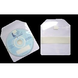 Pochettes CD avec rabat adhésif et bande autocollante de 25mm au dos (1000 unités)
