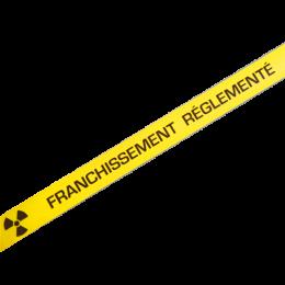 """Bande de marquage au sol antidérapante """" Franchissement Règlementé"""" jaune"""