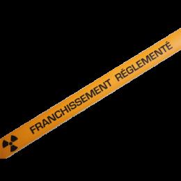 """Bande de marquage au sol antidérapante """" Franchissement Règlementé"""" Orange"""