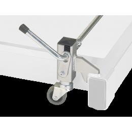 Support à roulettes escamotables pour divan Carina électrique 3 plans